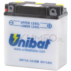 Akumulator UNIBAT 6N11A-3A/SM 6V 11Ah prawy+ oL