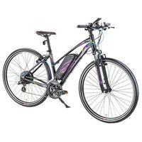 """Pozostałe rowery, Damski crossowy rower elektryczny Devron 28162 - model 2017, Szary, 18"""""""