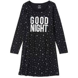 Koszulka nocna bonprix czarno-czerwony