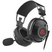 Marvo HG9053, słuchawki z mikrofonem, regulacja głośności, czarna, podświetlane na czerwono, USB 7.1 (virtual)