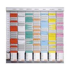 Planer z kartami T, planer tygodniowy,7 modułów, każdy z 24 szczelinami