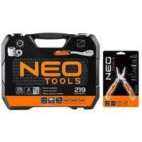 Zestawy narzędzi ręcznych, Zestaw kluczy nasadowych NEO 08-671+G1 (219 elementów) + DARMOWY TRANSPORT!