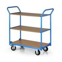 Wózki widłowe i paletowe, Wózek platformowy COMPACT, 3 półki