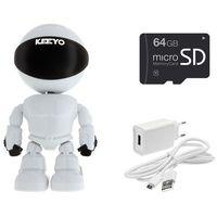 Nianie elektroniczne, LV-IP27PTZ z microSD 64GB kamera do obserwacji niani opiekunki ukryta PTZ Robot KEEYO IP FullHD Niania Elektroniczna 2MPx IR 10m