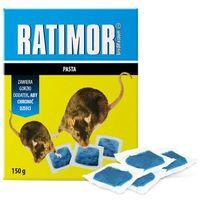 Środki na szkodniki, 150g Trutka, trucizna na myszy i szczury Ratimor brodifakum. Pasta na szczury.