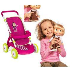 Smoby Masza Wózek Spacerówka dla lalek i śpiewająca lalka Masza 30 cm