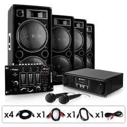 """Electronic-Star """"Bassbrigade USB"""" Zestaw DJ PA 4000W wzmacniacz mikser"""