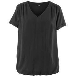 Długa bluzka bez rękawów z żorżety bonprix biały