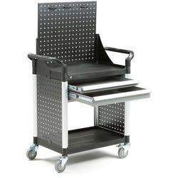 Wózek narzędziowy, 2 szuflady +panel narzędziowy, 850x480x1345 mm