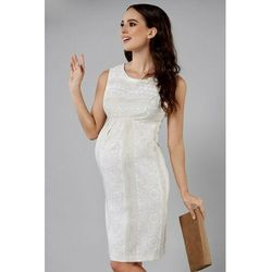 ubrania ciążowe Beżowa sukienka ciążowa Julie Piękny Brzuszek