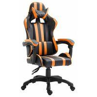 Fotele dla graczy, Pomarańczowy obrotowy fotel do komputera - Davo