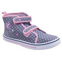 Buty sportowe dla dzieci, Trampki w serduszka na rzepy wysokie 33