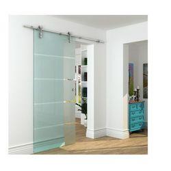 Naścienne drzwi przesuwne GLASSY - wys. 205 × szer. 93 cm - Szkło hartowane