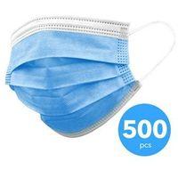 Maseczki i przyłbice ochronne, 3-warstwowa maseczka ochronna, jednorazowa maska na usta-nos 500 sztuk
