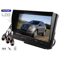"Monitor samochodowy LCD 9"" AHD cofania i monitoringu z obsługą do 2 kamer 12V 24V"