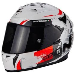 SCORPION AIR CERBERUS PEA WH- RED Kask integralny
