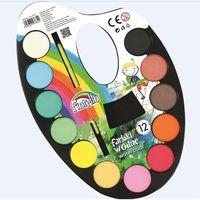Farbki, Farby wodne na paletce 12 kolorów FIORELLO