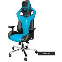 Fotele dla graczy, SELSEY Fotel gamingowy E-Blue Cobra czarno-niebieski