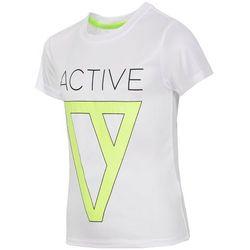 Koszulka treningowa dla dużych chłopców JTSM404 - biały