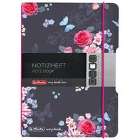 Notesy, Notatnik Notes A6 My.Book Flex PP z gumką HERLITZ - Ladylike Flowers