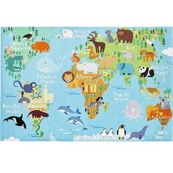 Dywan torino kids mapa świata 120 x 170 cm