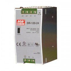 MEAN WELL Zasilacz impulsowy na szynę DIN Uwe: 100-240V AC, Uwy: 24V DC Iwy: 0-5A moc: 120W DR-120-24