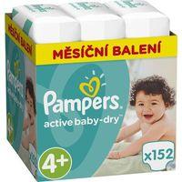 Pieluchy jednorazowe, PAMPERS Active Baby 4 MAXI 152 szt. (8-14 kg) ZAPAS NA MIESIĄC - pieluchy jednorazowe - BEZPŁATNY ODBIÓR: WROCŁAW!