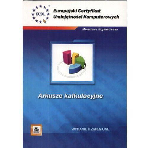 Informatyka, Arkusze kalkulacyjne. Europejski Certyfikat Umiejętności Komputerowych (opr. kartonowa)