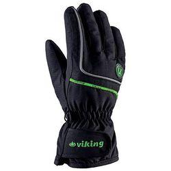 Rękawice zimowe dziecięce Viking Kevin - czarny z zielonym viking (-28%)