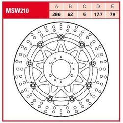 TRW Tarcza hamulcowa TRW MSW210 HONDA CB 1100 EX