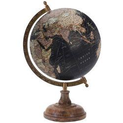 Globus na drewnianej podstawce - kolor czarny
