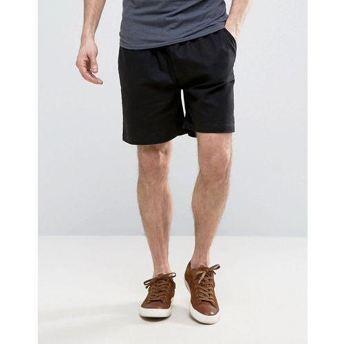 Pozostała odzież męska, French Connection Linen Draw String Shorts - Black