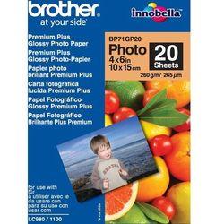 Papier fotograficzny BROTHER Innobella 260g 10 x 15 cm Błyszczący