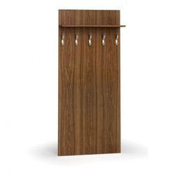 Garderoba z wieszakami, 5 haczyków, półka, orzech