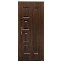 Drzwi wewnątrzklatkowe stalowe Splendoor Gaja 90 prawe orzech szlachetny