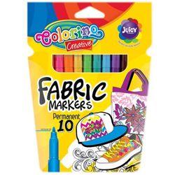 Markery do tkanin 10 kolorów Colorino
