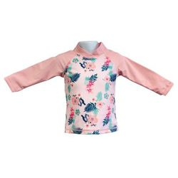 Bluzka kąpielowa koszulka dzieci 108cm filtr UV50+ - Pink Floral \ 108cm