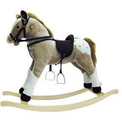 BINO Pluszowy Koń na biegunach , bezowy - BEZPŁATNY ODBIÓR: WROCŁAW!