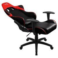 Fotele dla graczy, Fotel gamingowy Aerocool AC-100 AIR AEROAC-100-AIR-BR (kolor czarno-czerwony)
