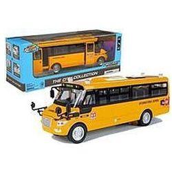 Metalowy autobus szkolny z silnikiem naciąganym