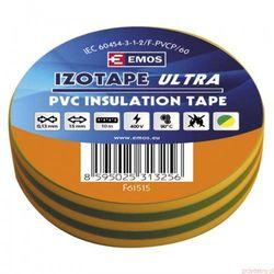 Taśma izolacyjna PVC 19mm/20m żółto-zielona