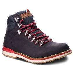 Trapery TOMMY HILFIGER - Outdoor Hiking Detail Boot FM0FM01755 Midnight 403