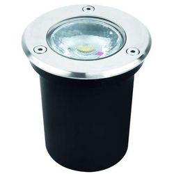 Zewnętrzna LAMPA gruntowa GAWRA 03247 Ideus okrągła OPRAWA najazdowa LED 6W wpust outdoor IP67 satyna