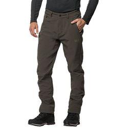 Softshelowe spodnie męskie ZENON SOFTSHELL PANTS MEN dark moss - 46