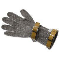 Rękawice robocze, Rękawica metalowa z brązowymi paskami, średnia, rozmiar XXS | GIESSER, 9590 08