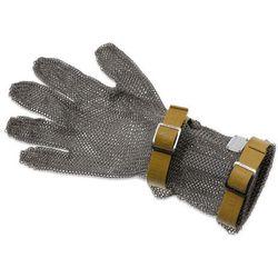 Rękawica metalowa z brązowymi paskami, średnia, rozmiar XXS | GIESSER, 9590 08