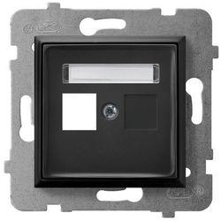 Obudowa gniazda pojedynczego typu Keystone prosta GPK-1U/p/33 czarny metalik Aria Ospel
