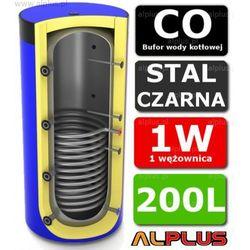 Bufor LEMET 200L z 1 Wężownicą do CO - Zbiornik Buforowy Zasobnik Akumulacyjny 200 litrów - Wysyłka Gratis