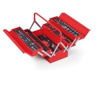 Skrzynki narzędziowe, Skrzynka na narzędzia z wyposażeniem, 209x450x200mm