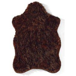 Sztuczna skóra owcza bonprix brązowy